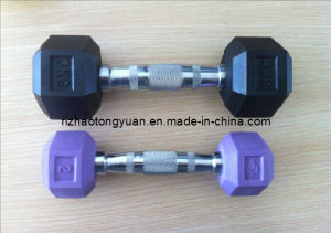 Hexagnal Rubber Coated Dumbbell pictures & photos