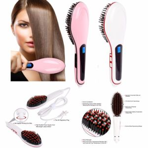 Hair Massager Tool Electric LCD Hair Straightening Brush pictures & photos