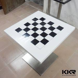 Made in China Customized Solid Surface Dining Table pictures & photos