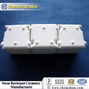 Shock Resistance Alumina Oxide Wear Resistant Blocks with Groove and Tongues pictures & photos