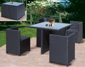 High Quality PE Rattan Furniture Outdoor Dining Set (FP0002)