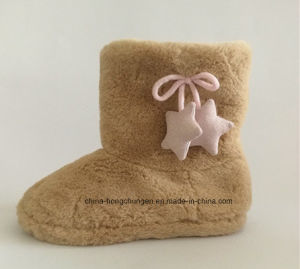 Winter Women Indoor Plush Boot with Stars pictures & photos