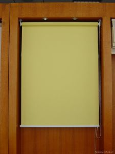 Manual Colourful Fabric Roller Blind with Aluminum Rail for Windows pictures & photos