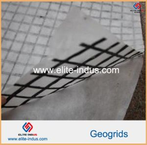 Fiberglass Geogrid 50kn Composite with PP Non-Woven Geotextile pictures & photos
