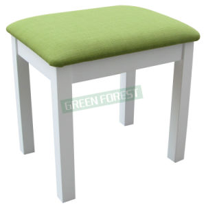 Green Wooden Makeup Stool (GF-M002)