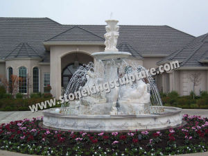 Large White Marble Water Fountain for Outdoor (sk-3374) pictures & photos
