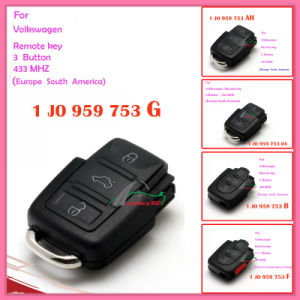 Remote for Auto VW 3 Buttons 1 Jo 959 753 B 433MHz for Europe South America pictures & photos