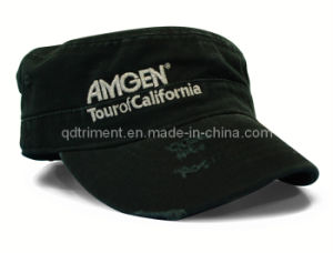 Fashion Grinding Washed Metallic Thread Embroidery Sport Military Cap (TRM016) pictures & photos