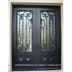 Made in China Square Top Wrought Iron Door (UID-D076) pictures & photos