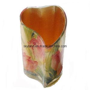 Rose Decorative Big Bowl Glass Vase