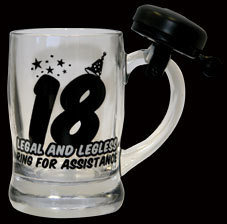 Bell Beer Stein, Glass Beer Stein with Bell pictures & photos