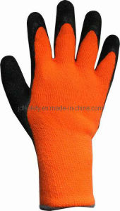Latex Work Glove with Terry Brushed Liner (LT2014T) pictures & photos