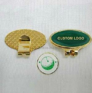 Custom Made Brass Hat Clip in Gold Plating (Golf-16) pictures & photos