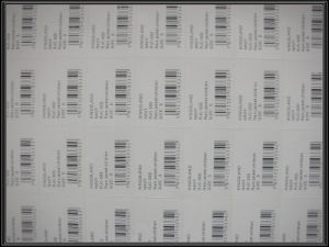 Adhesive Sticker Label