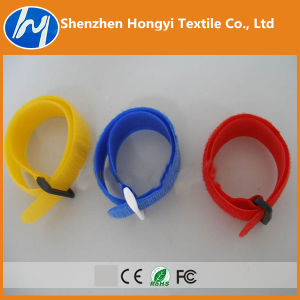 Self-Locking /Adjustableprinted Logo Hook & Loop Velcro Cable Ties pictures & photos