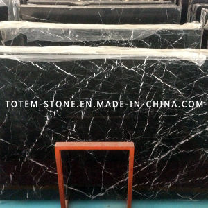 Cheap Price Nero Marquina Marble Stone Slab for Countertop pictures & photos