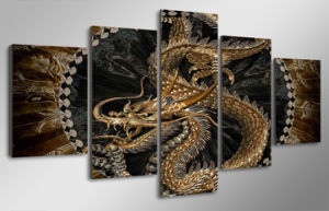 HD Printed Animal Dragon Art Painting Canvas Print Room Decor Print Poster Picture Canvas Mc-089 pictures & photos