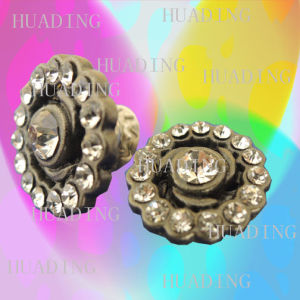 17mm Diamante Metal Shank Button of Jeans with Alloy (SK00437) pictures & photos
