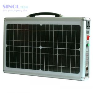 AC/DC Output 20W Portable Solar System Home Solar Generator pictures & photos