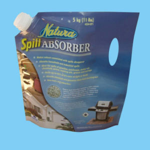 Plastic Standing Juice Packaging with Corner Spout pictures & photos