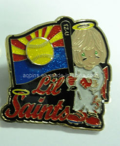 Stamped Iron Saint Lapel Pin Badge for Christmas Gift (badge-069) pictures & photos