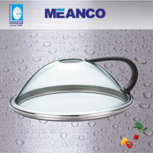 28cm Ez Cooking High Dome Tempered Glass Pan Lid pictures & photos
