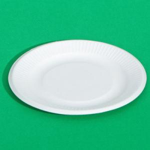 Disposable 8 Inch Ripple Edge Paper Plate (P003) (FDA, LFGB, EN13432)