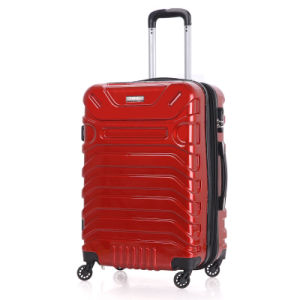 Luggage with 360 Degrees Rotating Wheels in Red Color pictures & photos