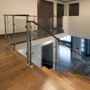 Stainless Steel Balustrade / Glass Balustrade / Square Post Railing Design pictures & photos