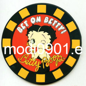 Rubber Coaster for Cafe Rubber Pad Customized Cloth Soft PVC/Rubber Label with Raised Logo pictures & photos