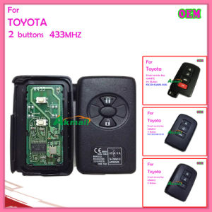 Auto OEM Smart Key for Toyota A433MHz Smart Key 2 Buttons 74 Chip pictures & photos