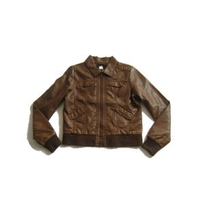 Competitive Price, Brown Kids PU Jacket