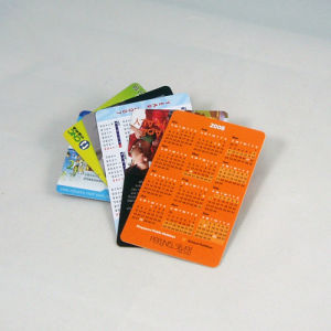 Plastic Pocket Calendar Printing Card