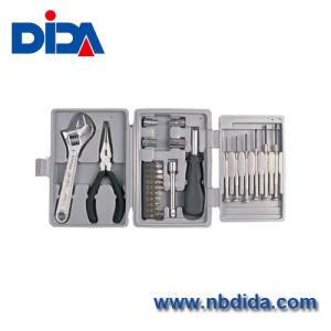 Deluxe 25-Piece Tool Kit With Case/Durable Hand Tools (DIDA0P011)