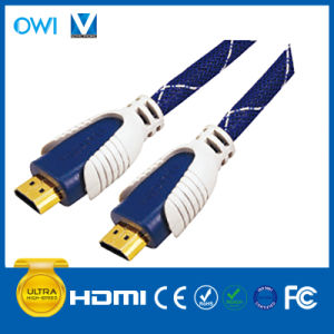 Two-Tone HDMI 19pin Plug to Plug Cable for Cellphone Camcorders HDTV pictures & photos