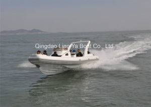 8.3m Fiberlgass Rigid Inflatable Fishing Boat Rib Boat Yacht pictures & photos