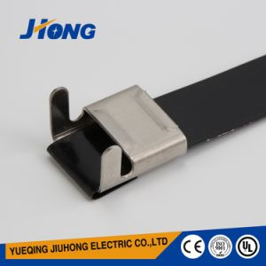 Grey Coated Stainless Steel Cable Ties pictures & photos