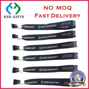 Customized Event /Festival Woven Fabric Wristband with Lock (KSD-1144) pictures & photos