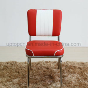 (SP-LC292) Stainless Steel Frame PU Leather Dining Chair for Restaurant Use pictures & photos