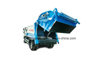 Mudan 7 Cubic Rear Loading Type Compactor Garbage Truck pictures & photos
