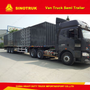 3 Axel 40 Tons Box Heavy Duty Track Semi-Trailer pictures & photos