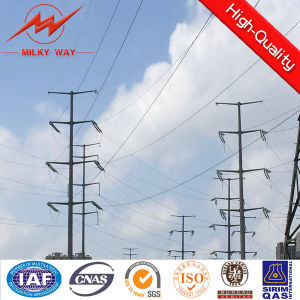 Customized Small Electricity Transmission Steel Pole pictures & photos