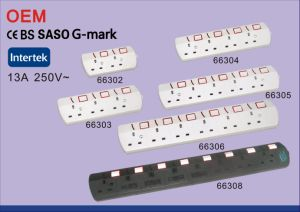Saso Approved UK Plug Extension Socket 13A 250V pictures & photos