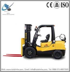 Total Forklift 3.5 Ton Gasoline and LPG Forklift with Japanese Nissan K25 Engine pictures & photos