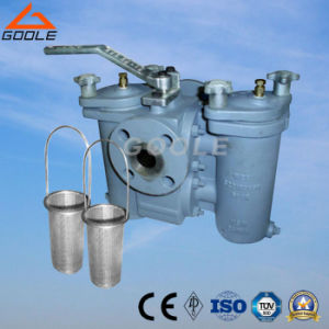 Duplex Strainer with Three Way Plug Valve Connected pictures & photos