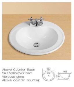 Above Counter Ceramic Washbasin, Above Counter Ceramic Wash Sinks pictures & photos