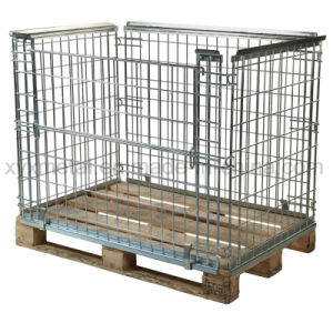 Euro Pallet Size Heavy Duty Steel Storage Parcel Cage pictures & photos
