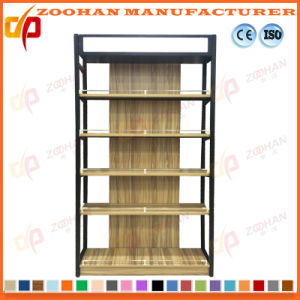 Customized Metal Wooden Shelf Supermarket Shop Display Stand (ZHS197) pictures & photos