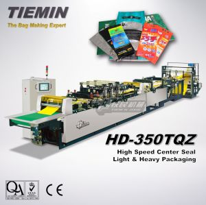 Tiemin Automic High Speed Bag Sealing Making Machine HD-350tqz (center seal, light packaging, heavy packaging) pictures & photos