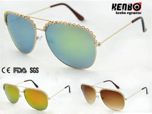 New Coming Fashion Metal Sunglasses for Lady Km15163 pictures & photos